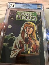HOUSE OF SECRETS #92 CGC 7.5 1ST SWAMP THING SIGNED BY WRIGHT AND WEIN INSIDE