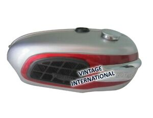 For Triumph Trophy TR25W Silver & Red Painted Petrol Tank 250CC 1969-71 +Cap @UK