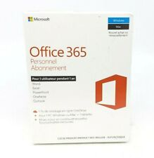Microsoft Office 365 French Subscription (Key Card) - Up to User - 1 Year - NEW™