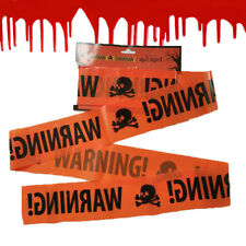 Trendy Halloween Party Warning Tape Signs Decor Plastic Window Prop Decoration