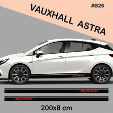 Vauxhall Astra Side Racing Stripes Decal Graphics /Tuning Car Stickers