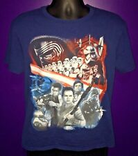 Walt Disney Star Wars Blue Shirt 100% Cotton Sports T Shirt Men's M Medium
