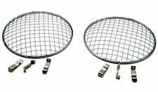 "Morris Leyland 7"" Flat & Curved Headlight Cover Stone Guard Stainless Mesh Pair"