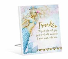 French Country Vintage Inspired Wooden MERMAID Friends Fill Your Life Sign New