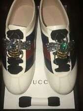 GUCCI DONNA SNEAKERS. SIZE US6/EU36 COLOR WHITE/BLUE/RED. NEW & AUTHENTIC