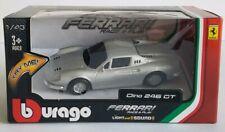 Burago New in Box Ferrari Race/Play Dino 246 Gt Light/Sound Metal 1:43