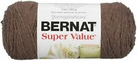 Bernat Super Value Solid Yarn-Taupe Heather, 164053-53015