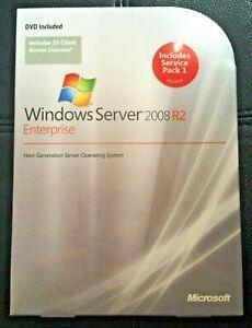 Microsoft Windows Server 2008 R2 Enterprise,SKU P72-03827,25 CAL,Full Retail Box