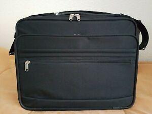 Business Koffer Reisekoffer Pilotenkoffer Schwarz Schultergurt