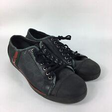 Gucci Black Canvas Sneaker Mens US 10 UK 9 G Lace Shoes