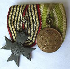 2er Ordensspange Preußen Verdienstkreuz Kriegshilfsdienst 1916 1.WK (124655)