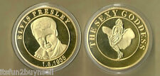 ELVIS PRESLEY & THE SEXY GODESS GOLD COLLECTOR COIN