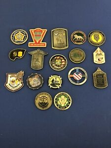 US military  challenge coins lot of 17