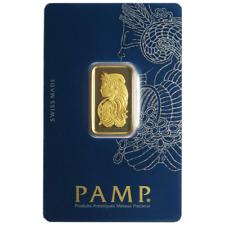 10 Gram Pamp Suisse .9999 Fine Gold Bar Fortuna Veriscan