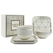 Bamboo Dinnerware 12 Piece Set Eco-Friendly Table Setting Indoor/Outdoor