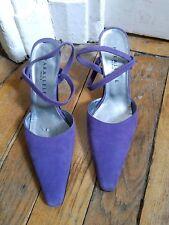 Escarpins violets ouverts derriere en daim PARALLELE taille 6 / 39 avec patins