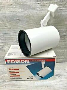 New in Box 1995 Edison Track Lighting Cylinder Light Head E9306 White / Black