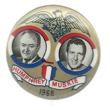 HUMPHREY, MUSKIE 1968 GOLD EAGLE JUGATE POLITICAL PIN