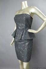 $1695 New STELLA McCARTNEY Sexy Black Strapless Reptile Dress 46 12