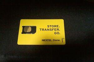 Nextel Black Sim Card Used