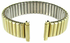 16-19mm Straight End Speidel Twist-O-Flex Gold Tone Watch Band  514/32
