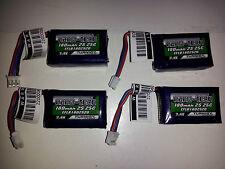 4 Turnigy Nano-Tech 180mAh 2S 25C Battery LiPo EFlite Beast HyprTaxi EFLB1802S20