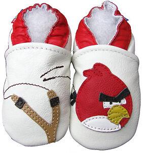 carozoo bird slingshot white  6-12m new soft sole leather baby shoes