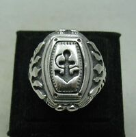 STERLING SILVER MEN'S RING SOLID 925 ANCHOR SIZE 8 - 14 NEW R001154