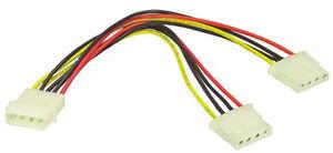 5.25 Molex PC Power Y Adapter Splitter Cable Lead Internal 160mm Long CD DVD HD