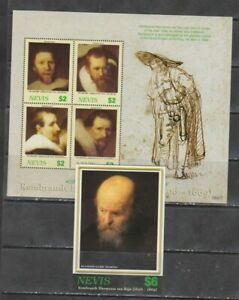 Nevis 2006 paintings art Rembrandt, klb + s/s MNH