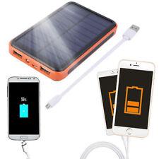 100000mAh Dual USB Solar Power Bank Waterproof Portable External Battery Charger