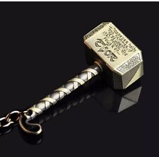 Marvel The Avengers Thor Thor's Hammer Bronze  Metal Keyring KeyChain