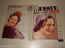 MARIA DENIS=UFA=1938/11=Novelle Zenit=Cover magazine=ACTRESS=ATTRICE
