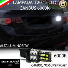 LAMPADA RETROMARCIA 15 LED T20 W21W CANBUS HONDA ACCORD MK8 6000K NO AVARIA