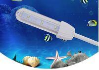 Aquarium Fish Tank Flexible Arm SMD LED Clip On Light Lamp Blue White - UK
