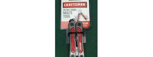NEW Craftsman 10-in-1 Mini Multi Tool Snips Knife - Red  38838