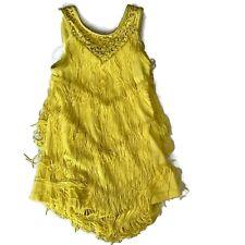 NWOT Balera Fringe Sequined Dance Skating Dress Costume Leotard Flapper Girls S