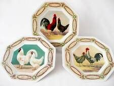 3 Johnson Bros / Cockerel Collection Plates / Compton & Woodhouse - Cottage Chic