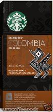 Starbucks Nespresso Espresso Colombia Coffee Compatible 10 Pods