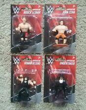 WWE Superstars Mini Action Figures! Set of 4! Brock, Undertaker, Cena, and Roman