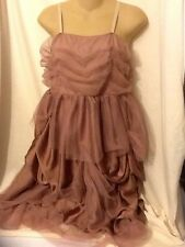 Women's Weismann Brown Frilly Leotard Dance Costume Size Adult Large
