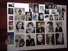 1950s  LOT OF  SIGNED & UNSIGNED OPERA PHOTOS JAN PEERCE,  UTA GRAF, TOSCANINI