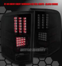 07-11 CHEVY SILVERADO PICKUP TRUCK LED TAIL LIGHTS BLACK/SMOKE LENS LS LT LTZ WT