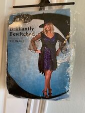 NWT Brilliantly Bewitched Adult Womens Costume Halloween Shimmery Dress Disguise