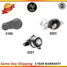New 3 Pieces Set For 2006-2009 Ford Fusion 3.0L 4WD Engine & Transmission Mount