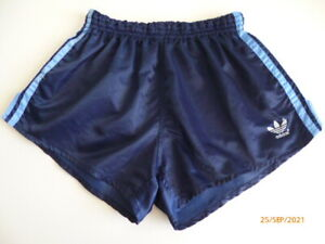 ADIDAS Glanz Shiny Nylon Vintage Retro Sprinter Boxer Shorts Hot Pants Hose D6 M