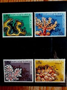 1972 Gilbert & Ellice Islands Full Set Of 4 Stamps - Corals - MNH