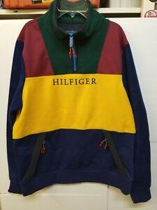 New Tommy Hilfiger Essential Mockneck Popover Men's Medium Quarter Zip Sweater