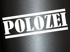 1 x 2 Plott Aufkleber Polozei Polizei VW Polo Sticker Autoaufkleber Tuning Fun