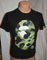 original  bape 1st camo head black green tee t shirt size L milo